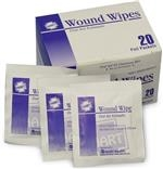 Wound Wipes, HART, BZK, antibacterial, 20 wipes per box