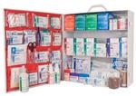 ANSI 2015 Class A, 3 Shelf First Aid Station, Stocked