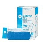 Foamtec Strip, Blue Foam, Metal Detectable, 50 Strips per Box