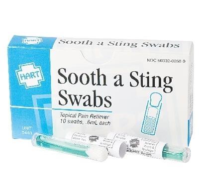 Sooth-A-Sting Swabs, 10 Swabs per Unit
