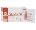 PVP Iodine Wipes, 100 Packets per Box