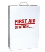 Four Shelf Empty Metal First Aid Station